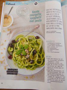 Paleo Courgette Spaghetti met Pesto